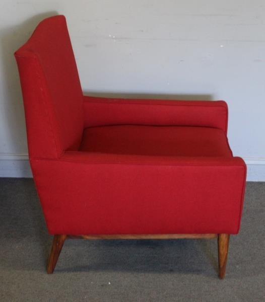 Midcentury Paul McCobb Upholstered Arm Chair. - 2