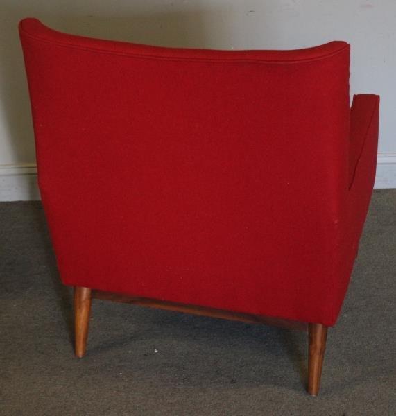 Midcentury Paul McCobb Upholstered Arm Chair. - 3
