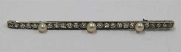 JEWELRY Art Deco Platinum Diamond and Pearl
