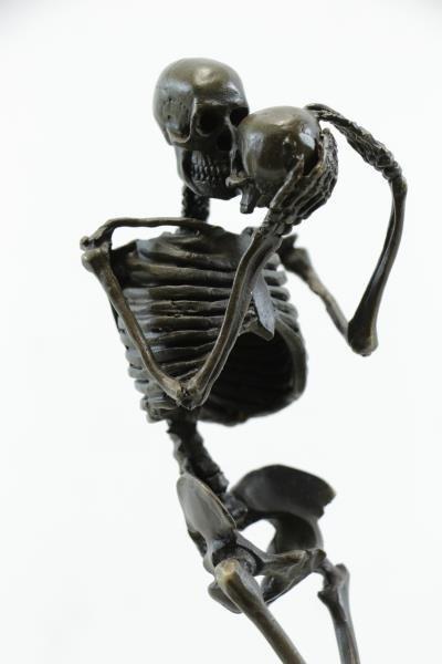 "KAUBA, Carl. Bronze ""Death Contemplating Death"". - 5"