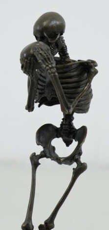 "KAUBA, Carl. Bronze ""Death Contemplating Death"". - 6"