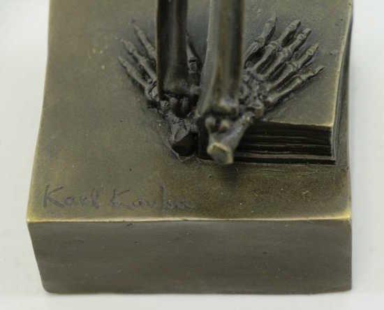 "KAUBA, Carl. Bronze ""Death Contemplating Death"". - 7"