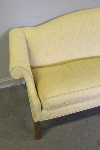 Upholstered Camelback & Scroll Arm Sofa, - 2