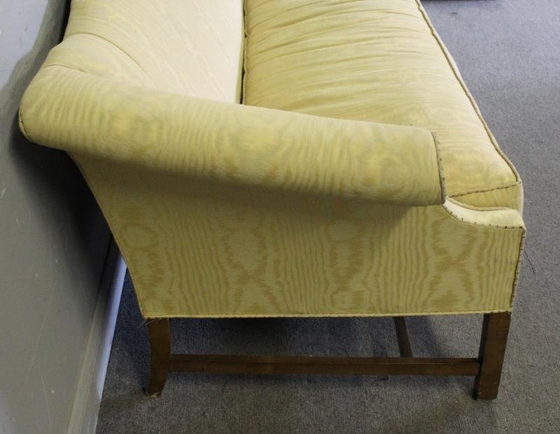 Upholstered Camelback & Scroll Arm Sofa, - 3