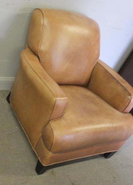 French Art Deco Style Leather Club Chair. - 2