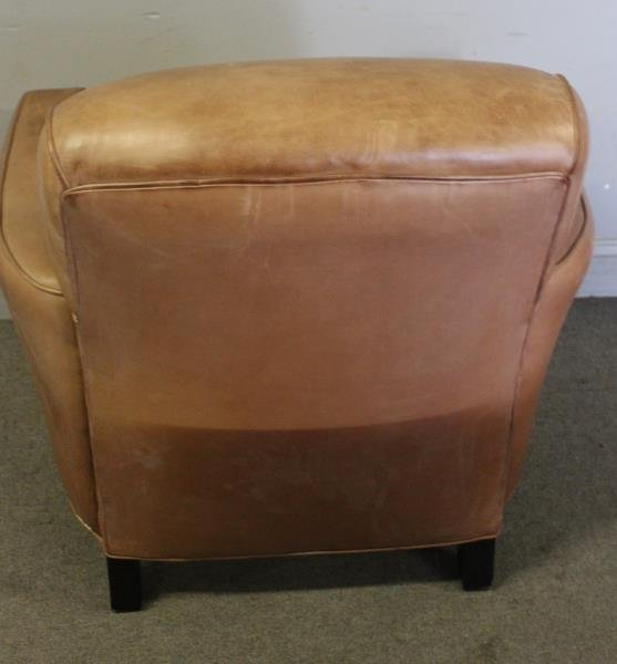 French Art Deco Style Leather Club Chair. - 4