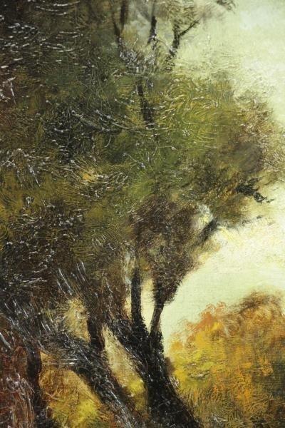 Signed Barbizon School Oil on Canvas. Shepherd - 4