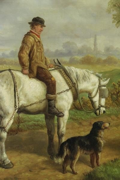 HEBERTE, Edward B. Pair of Oils on Canvas. English - 3