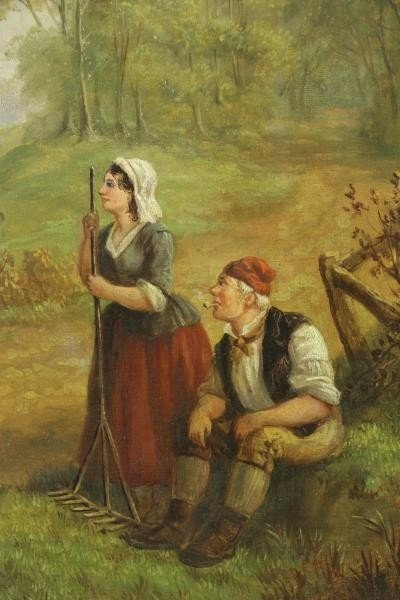 HEBERTE, Edward B. Pair of Oils on Canvas. English - 4