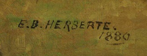 HEBERTE, Edward B. Pair of Oils on Canvas. English - 5