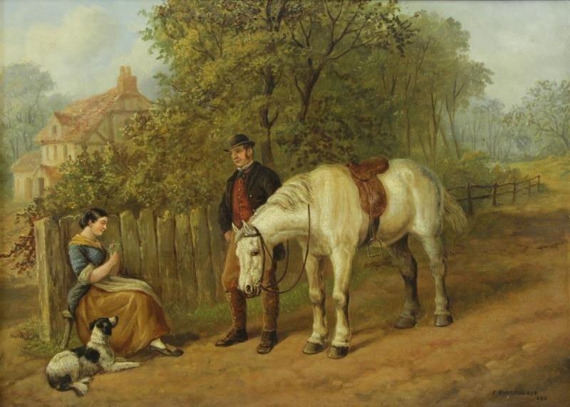 HEBERTE, Edward B. Pair of Oils on Canvas. English - 6