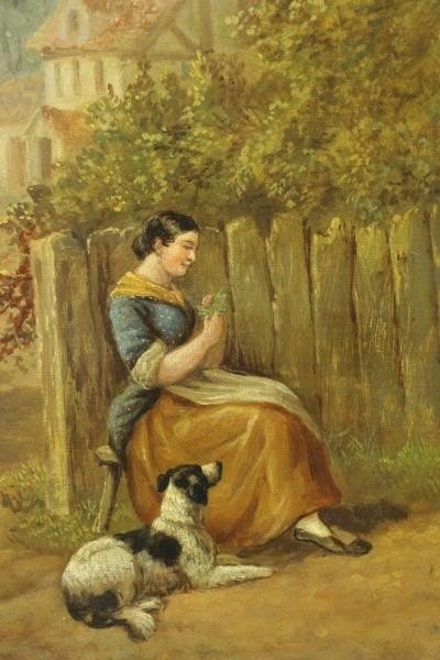 HEBERTE, Edward B. Pair of Oils on Canvas. English - 8
