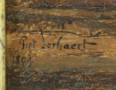 VERHAERT, Piet. Oil on Board. Man with Pipe. - 4