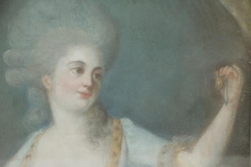 Lot of Two 19th Century Pastels. - 4