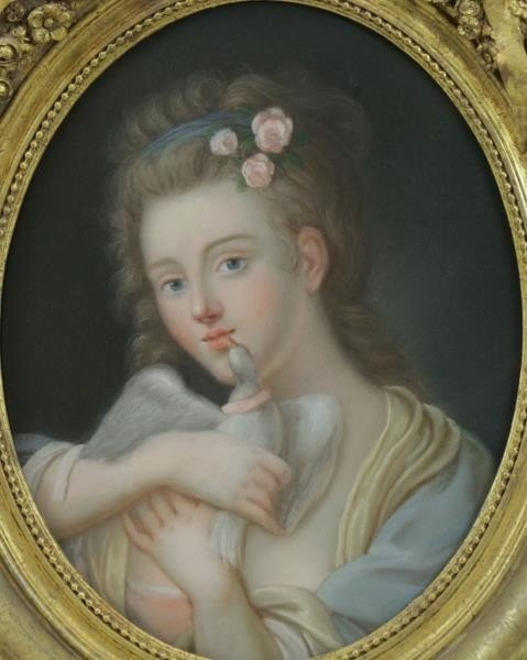 Lot of Two 19th Century Pastels. - 5
