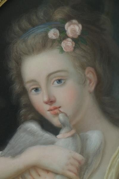 Lot of Two 19th Century Pastels. - 6