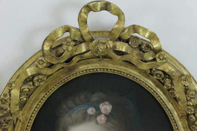 Lot of Two 19th Century Pastels. - 7