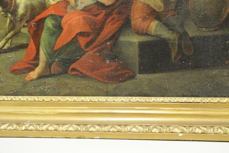 18th C. Italian Oil on Canvas Banquet Scene. - 8