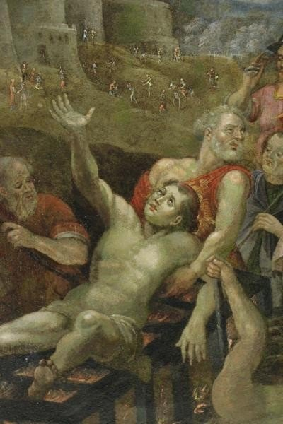 18th/19th C. Oil on Copper. The Martyrdom of Saint - 3