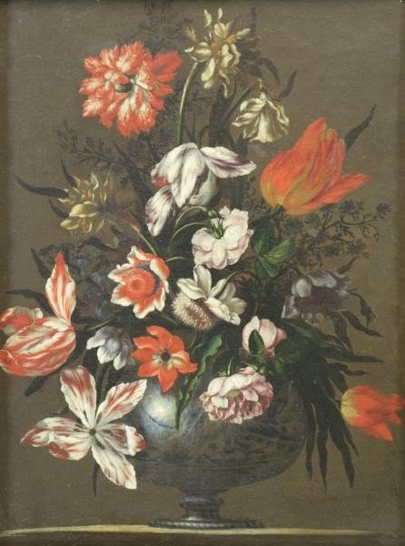 MANTOVANO, Francesco. Oil on Canvas. Floral