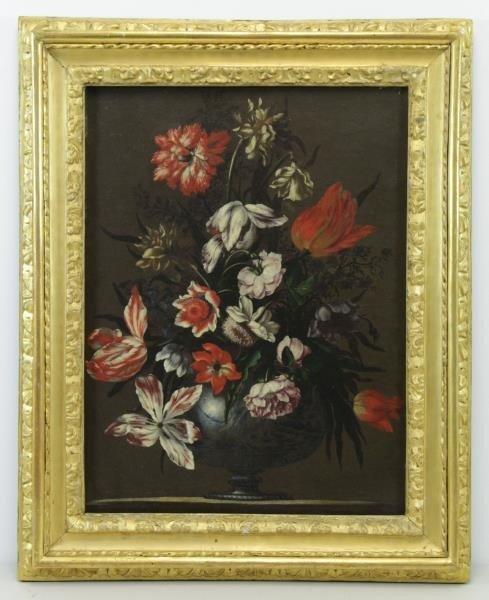 MANTOVANO, Francesco. Oil on Canvas. Floral - 2