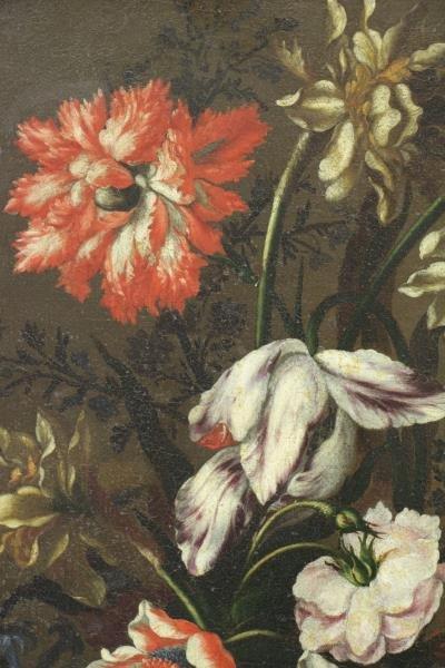 MANTOVANO, Francesco. Oil on Canvas. Floral - 3