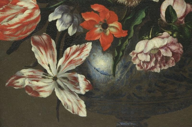 MANTOVANO, Francesco. Oil on Canvas. Floral - 4