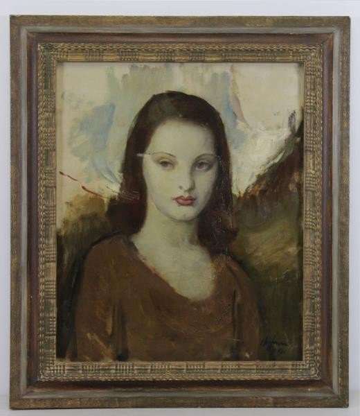HOFFMAN. Oil on Canvas. Portrait of a Girl, 1930. - 2
