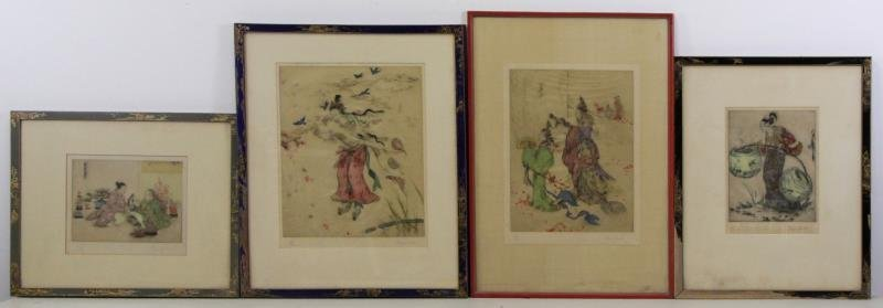 LORD, Elyse. Lot of 4 Signed Color Etchings.