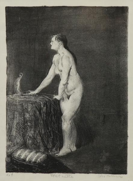 """BELLOWS, George. Lithograph """"Statuette""""."""