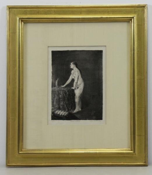 """BELLOWS, George. Lithograph """"Statuette"""". - 2"""