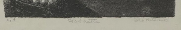 """BELLOWS, George. Lithograph """"Statuette"""". - 3"""