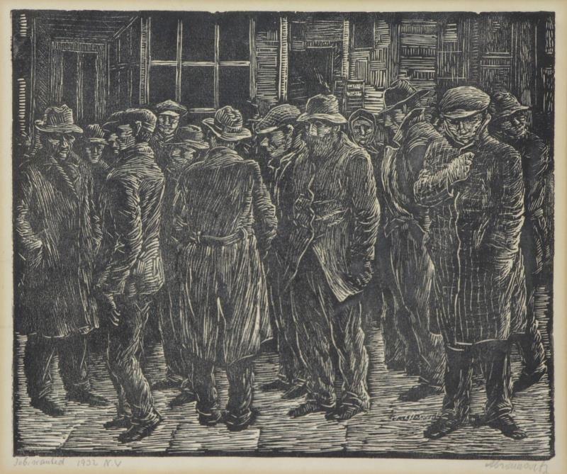 ABRAMOVITZ, Albert. Two Signed Woodcut Prints. - 2