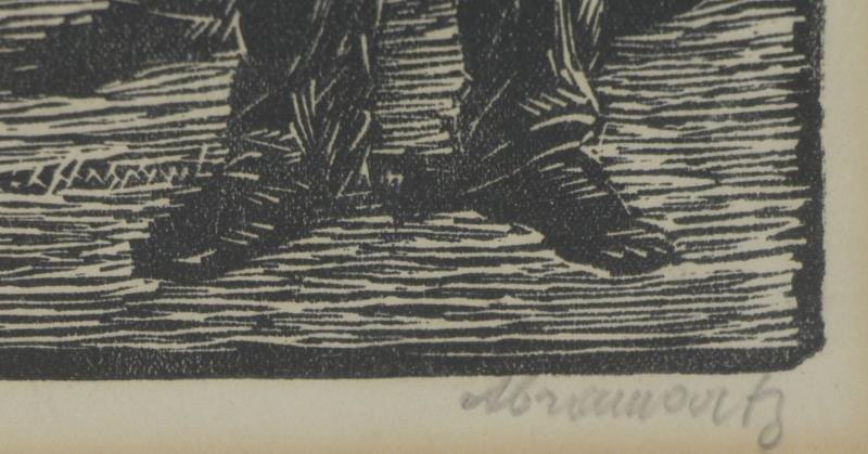ABRAMOVITZ, Albert. Two Signed Woodcut Prints. - 3