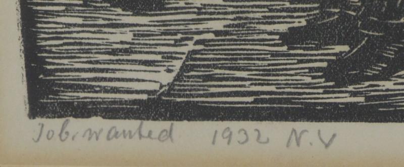 ABRAMOVITZ, Albert. Two Signed Woodcut Prints. - 4