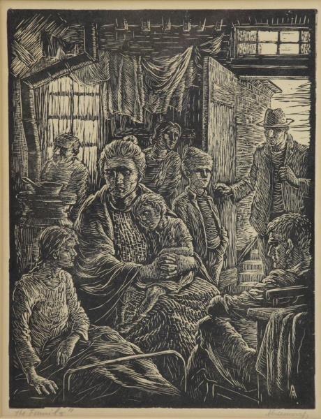 ABRAMOVITZ, Albert. Two Signed Woodcut Prints. - 5