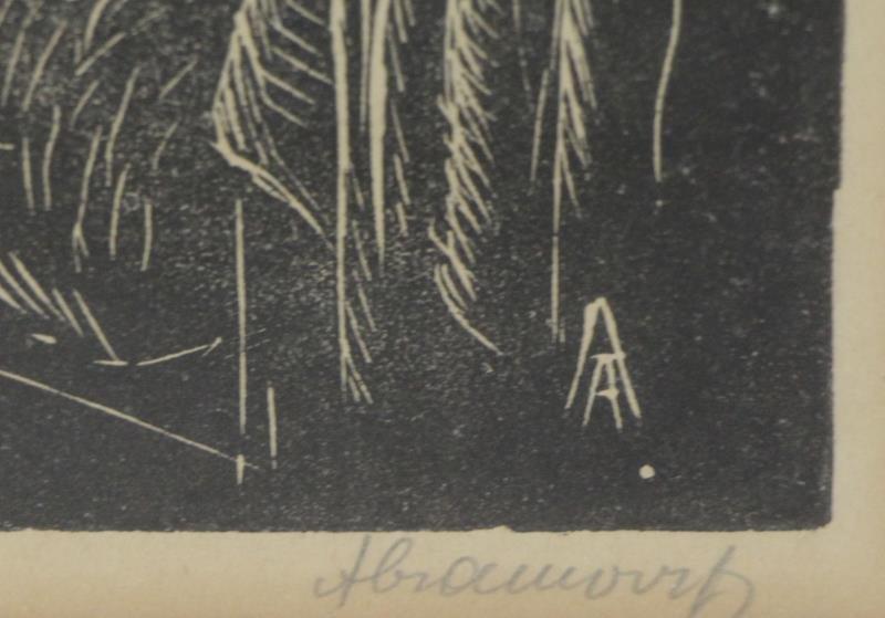 ABRAMOVITZ, Albert. Two Signed Woodcut Prints. - 6