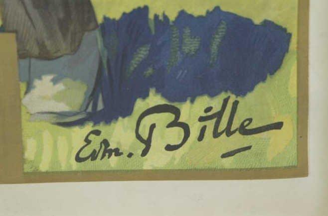 """BILLE, Edmond. Color Lithograph """"Switzerland / - 3"""