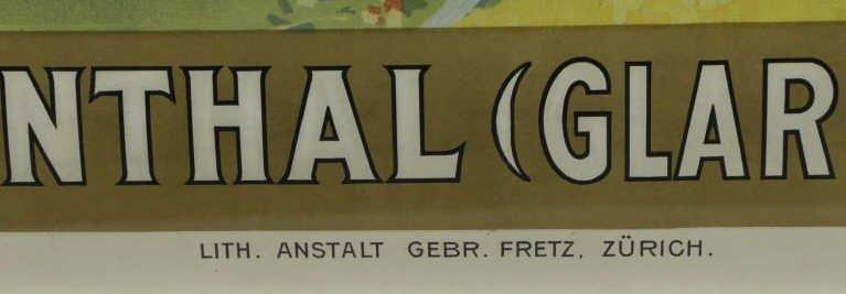 """BILLE, Edmond. Color Lithograph """"Switzerland / - 4"""