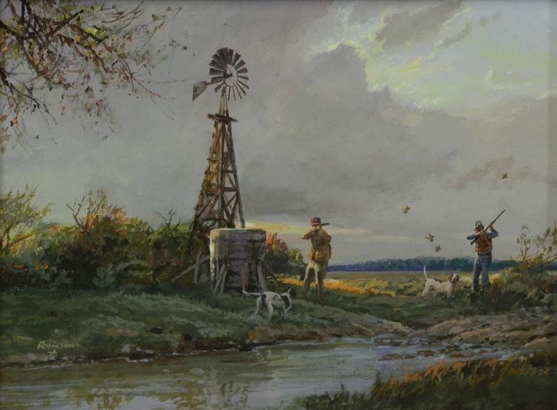 """ROBINSON, James. Pair of Oils on Panel. """"In the - 2"""
