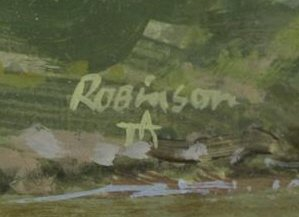 """ROBINSON, James. Pair of Oils on Panel. """"In the - 5"""