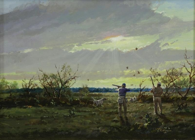 """ROBINSON, James. Pair of Oils on Panel. """"In the - 7"""