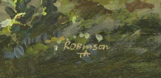 """ROBINSON, James. Pair of Oils on Panel. """"In the - 9"""