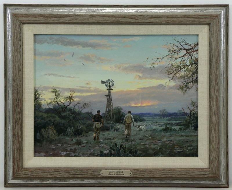 "ROBINSON, James. Oil on Panel. ""Last Covey"". - 2"