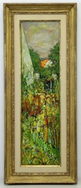 VIGNOLES, Andre. Oil on Canvas. Garden Landscape - 2