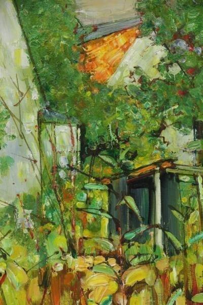 VIGNOLES, Andre. Oil on Canvas. Garden Landscape - 3