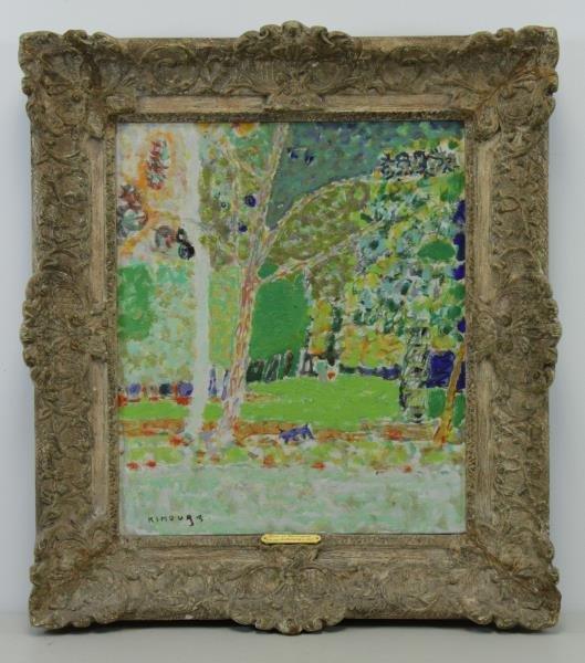 """KIMOURA. Oil on Canvas. """"Bois de Boulogne"""" 1956. - 2"""