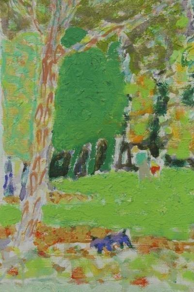 """KIMOURA. Oil on Canvas. """"Bois de Boulogne"""" 1956. - 4"""