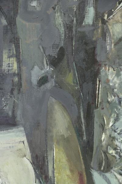 "BUNCE, Louis. Oil on Canvas ""Sea Cliffs"" 1953. - 4"