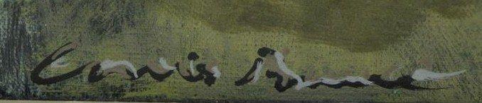 "BUNCE, Louis. Oil on Canvas ""Sea Cliffs"" 1953. - 5"
